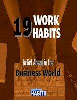 19 thói quen tốt trong kinh doanh