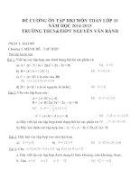 Đề cương ôn tập môn toán lớp 10 (47)