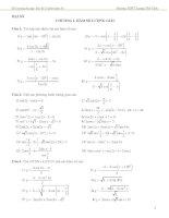 Đề cương ôn tập môn toán lớp 11 (1)