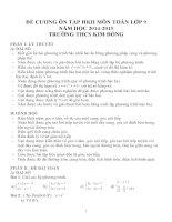 Đề cương ôn tập môn toán lớp 9 (20)