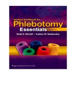 Student workbook for phlebotomy essentials 5e 2012