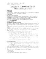 Tài liệu ôn tập môn sinh học lớp 12 luyện thi đại học (26)