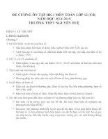 Đề cương ôn tập mon toán lớp 12  (1)