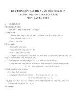 đề cương ôn tập môn vật lý lớp 8 (1)