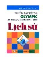TUYỂN TẬP ĐỀ THI OLYMPIC LẦN THỨ 16 2010 MÔN LỊCH SỬ