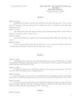 Tập đề thi luyện thi môn lịch sử