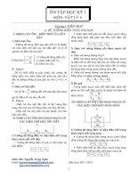 ôn tập học kì 1 môn vật lý 9