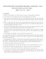Đề cương ôn tập môn vật lý lớp 9 (73)