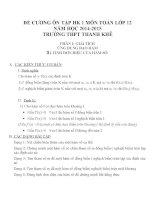 Đề cương ôn tập mon toán lớp 12  (3)