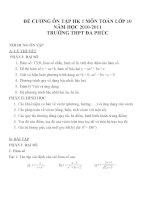 Đề cương ôn tập môn toán lớp 10 (41)