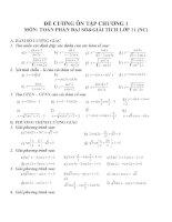 Đề cương ôn tập môn toán lớp 11 (26)