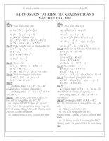 Đề cương ôn tập môn toán lớp 8 (1)
