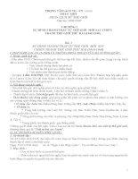 Tài liệu ôn thi lịch sử lớp 12 trọng tâm lịch sử thế giới và lịch sử việt nam
