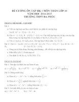 Đề cương ôn tập môn toán lớp 10 (23)