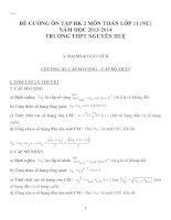 Đề cương ôn tập môn toán lớp 11 (24)