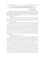 BƯỚC ĐẦU ĐÁNH GIÁ TRÌNH ĐỘ TIẾNG VIỆT CỦA LƯU HỌC SINH LÀO TẠI TRƯỜNG ĐẠI HỌC TÂY BẮC