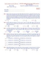 Đề thi trắc nghiệm toán đánh giá năng lực chuyên đề tổ hợp   xác suất