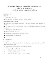 Đề cương ôn tập môn toán lớp 10 (52)