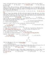 bài tập benzen dễ
