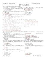 bài tập trắc nghiệm ESTE lớp 12