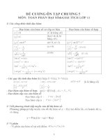 Đề cương ôn tập môn toán lớp 11 (51)