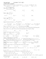 Thi thử HK2 Đề 1 môn toán lớp 12