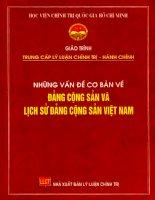 Những vấn đề cơ bản về Đảng cộng sản và lịch sử Đảng cộng sản Việt Nam