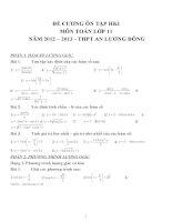 Đề cương ôn tập môn toán lớp 11 (19)