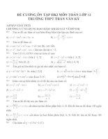Đề cương ôn tập mon toán lớp 12  (32)