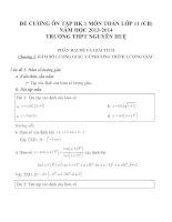 Đề cương ôn tập môn toán lớp 11 (49)