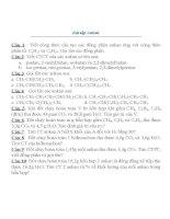 Bài tập ankan (lần 5)