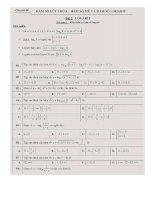 Tổng hợp lý thuyết và bài tập trắc nghiệm vận dụng chuyên đề tích phân   logarit