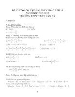 Đề cương ôn tập môn toán lớp 11 (33)