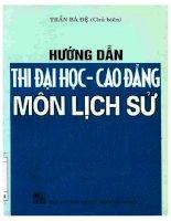 hướng dẫn thi đại học cao đẳng môn lịch sử  nxb dai hoc quoc gia 2001