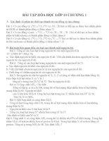 Bài tập hóa học lớp 10 chương 1
