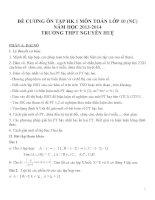 Đề cương ôn tập môn toán lớp 10 (45)