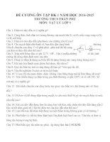 Đề cương ôn tập môn vật lý lớp 9 (9)