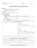 Giáo án tin học lớp 8 tuan 28 tiết 56 (huong dan bai tap thuc hanh)