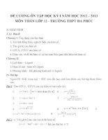 Đề cương ôn tập mon toán lớp 12  (11)