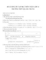Đề cương ôn tập môn toán lớp 10 (22)