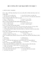 Đề cương ôn tập môn tin học 9 (2)
