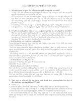 Tài liệu ôn tập môn sinh học lớp 12 luyện thi đại học (28)