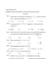 Tuyển tập câu hỏi trắc nghiệm môn toán ĐHQG hà nội