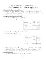 Đề cương ôn tập môn toán lớp 11 (32)