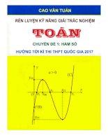 Kỹ thuật giải nhanh chuyên đề hàm số bằng MTCT