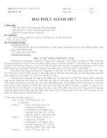 Giáo án tin học lớp 8 tuan 25 tiết 49 (bai thuc hanh so 7)