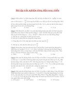 Bài tập trắc nghiệm dòng điện xoay chiều
