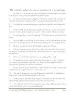 Câu hỏi lưu ý môn Chọn Giống Cây Trồng Ngắn Ngày