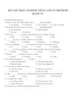 Bài tập trắc nghiệm môn tiếng anh 12 (5)