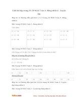 Giải bài tập trang 19, 20 SGK Toán 3: Bảng nhân 6 - Luyện tập